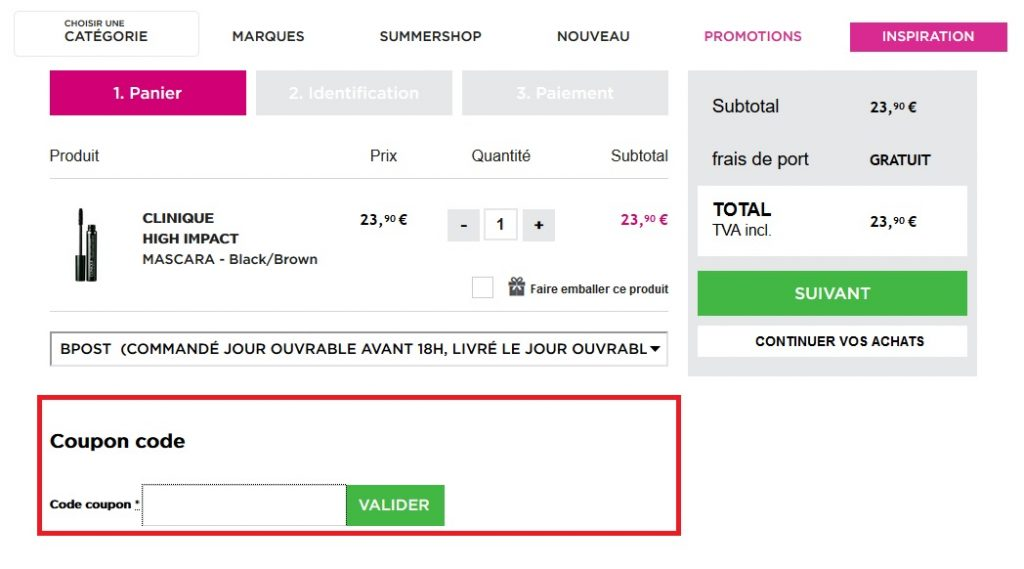 coupon code ici paris