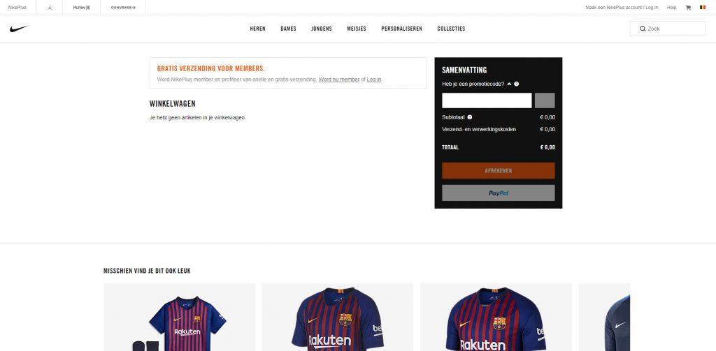 Promotiecode Nike