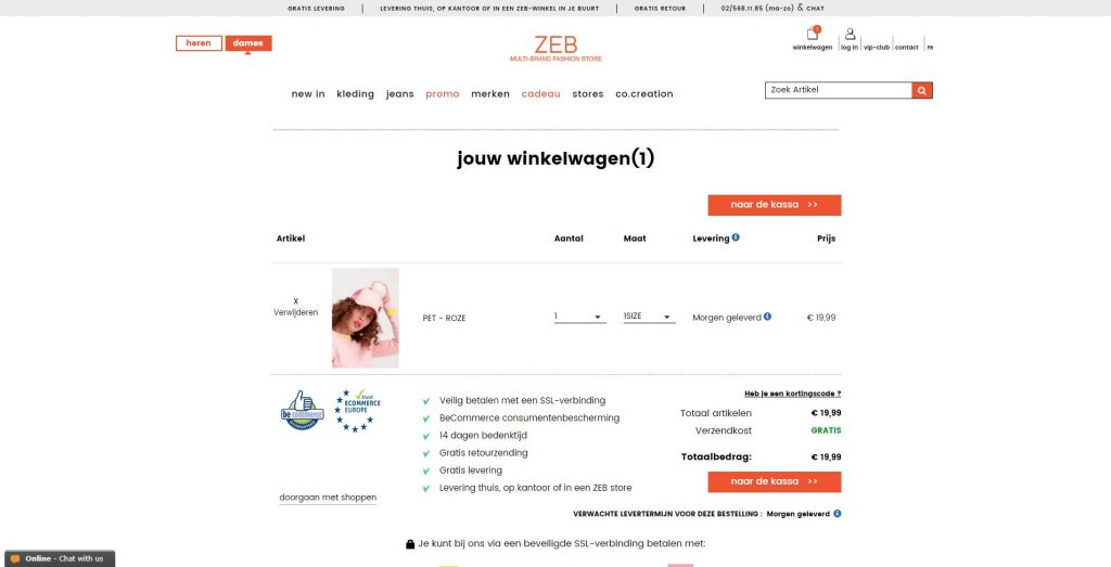 code zeb.be