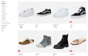 Grote keuze aan schoenen in de webshop van About You