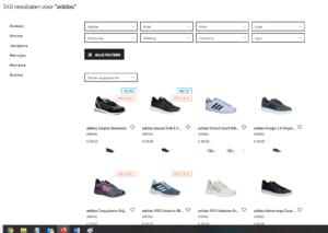 keuze uit meer dan 300 adidas modellen