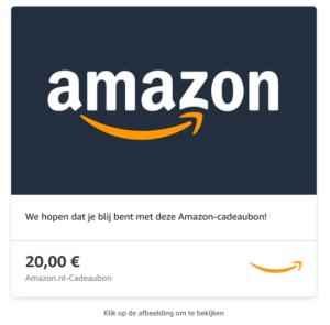een giftcard geldig bij amazon belgium