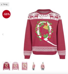 kersttrui met 66% korting