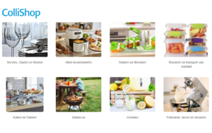 Categorie koken en tafelen bij colishop