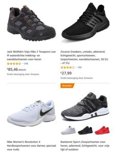 4 schoenen die te koop zijn op Amazon Duitsland