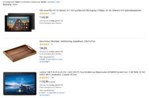 3 tablets uit het aanbod van amazone.de