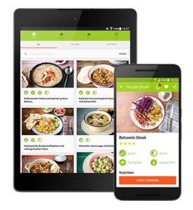 voorbeeld van de helofresh app