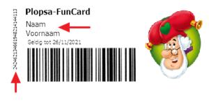 Voorbeeld van Plopsa Funcard abonnement