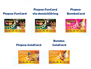 goldcard en funcards van Plopsa