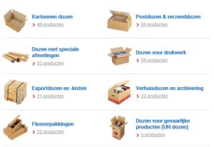 Genoeg keuze uit kartonnen dozen bij radjapack
