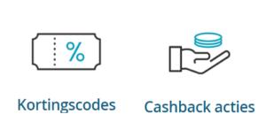 icoon met kortingscode en cashback actie 50five
