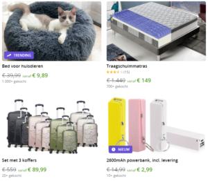 4 items om te shoppen bij grupon