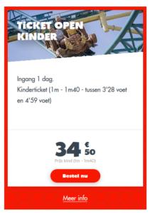 waliby ticket prijzen van kinderen