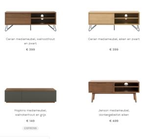 4 tv meubels bij Made.com