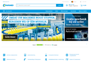 screenshot van de webshop